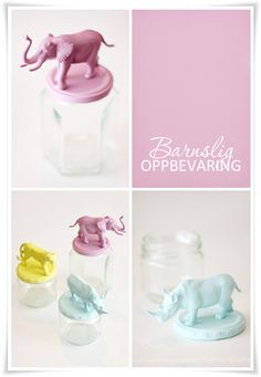 Beautiful DIY. Fun idea to use toy animals, but any kind of figures could be used. Just glue them on the lid and spraypaint.