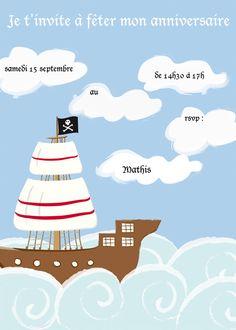 invitation anniversaire pirates