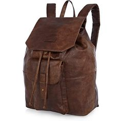 Dark brown leather look rucksack - rucksacks - bags / wallets - men ($20-50) - Svpply