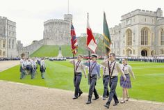 HUNDREDS of scouts and their families from across the country were welcomed to Windsor Castle yesterday for the annual National Review of The Queen's Scouts.
