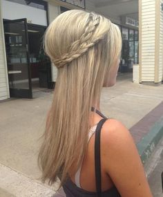 Long Hairstyles with Double Braided Crown