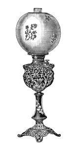Free Vintage Image Decorated Banquet Lamp No 2 Old Design Shop