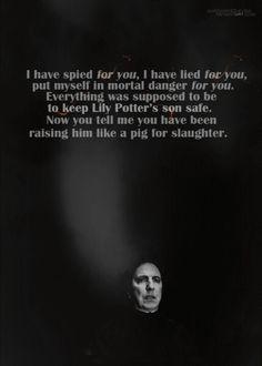 Poor Snape. :(