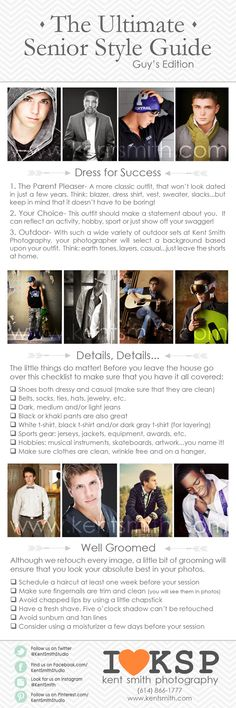Senior Session/Style Guide| Guys  senior style guide photography session clothing