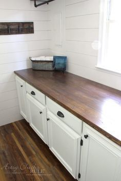 How To Make A DIY Wood Countertop | Diy wood, Farmhouse style and ...