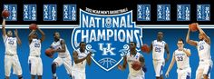 #8pril has arrived! The Kentucky Wildcats win their 8th NCAA Tourney Title! Geaux Big Blue! universityofky