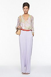 DVF 2012: I love the lavender & red combination.  I must try this!