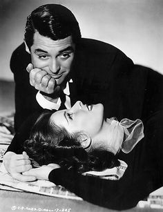 Katharine Hepburn, Cary Grant. I want a wedding picture like this. Obviously I will not be dressed in black....