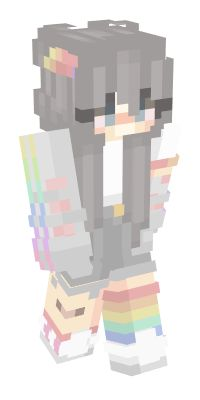 Check out our list of the best Rainbow Minecraft skins. Capas Minecraft, Minecraft Mobs, Minecraft Characters, Hama Beads Minecraft, Perler Beads, Mine Minecraft, Minecraft Stuff, Minecraft Skins Kawaii, Minecraft Skins Female