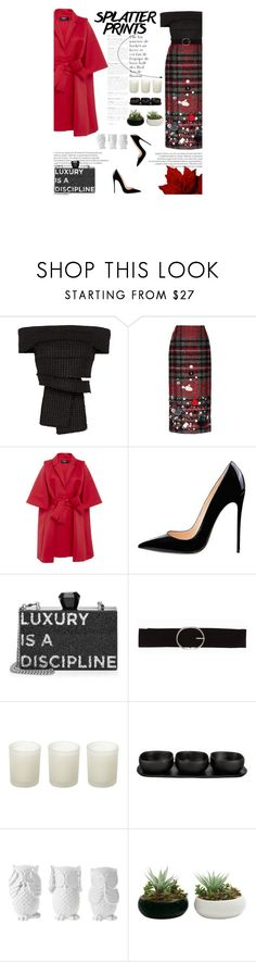 """""""Splatter Prints"""" by amimcqueen ❤ liked on Polyvore featuring Proenza Schouler, Stella Jean, Paule Ka, Karl Lagerfeld, Vero Moda, Casa Couture, Tina Frey Designs and Design 55"""