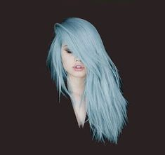 Light blue hair, I love this color and the cut and styling is gorgeous!