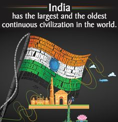 Guiddoo World Travel Fact about India - largest and oldest continuous civilization Gernal Knowledge, General Knowledge Facts, Wow Facts, Wtf Fun Facts, India Quotes, India Facts, Facts About India, Interesting Facts About World, Unique Facts