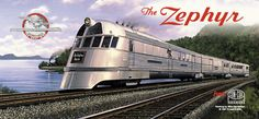 zeppher train | by budd for the burlington railroad it was powered by winton v 8 ...
