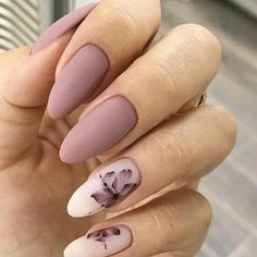 36 Perfect and Outstanding Nail Designs for Winter dark color nails; nude and sparkle nails; The post 36 Perfect and Outstanding Nail Designs for Winter dark color nails; Gel n& appeared first on Nails. Mauve Nails, Gray Nails, Gray Nail Art, Neutral Nails, Dark Color Nails, Nail Colors, Matte Gel Nails, Dark Pink Nails, Matte Nail Art