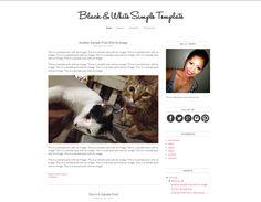 Color It YOU | Blog Design & Tips: Blogger Template Experiment 5: Black & White Minimalist Simple Template