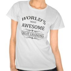 >>>Are you looking for          	World's Most Awesome Great Grandma Tee Shirt           	World's Most Awesome Great Grandma Tee Shirt We have the best promotion for you and if you are interested in the related item or need more information reviews from the x customer who are own of them ...Cleck Hot Deals >>> http://www.zazzle.com/worlds_most_awesome_great_grandma_tee_shirt-235637384407931139?rf=238627982471231924&zbar=1&tc=terrest
