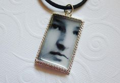 Face of a Woman Photo Pendant by Little Visions Photo & Jewelry Art ~ This the face of my great aunt, Anna, as a young woman in Germany after WWI ~ www.annwidner.etsy.com