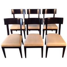 set of six dining chairs in leather by christian liaigre for holly hunt - Set Of Six Dining Room Chairs