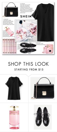 """pink&black"" by emina-la ❤ liked on Polyvore featuring Prada and Fujifilm"