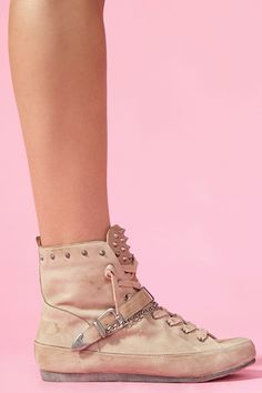 Alexander Spiked Sneaker in Nude (but I want leopard or black)!!!