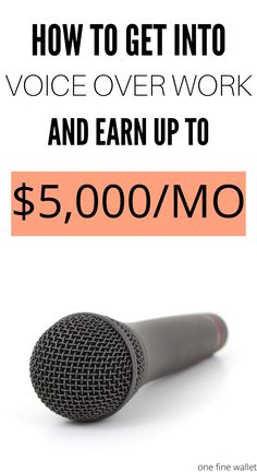 How to make money as a voice over artist - Included in this post are the perfect voice over jobs for beginners Ways To Earn Money, Earn Money From Home, Make Money Fast, Way To Make Money, Make Money Online, Legit Work From Home, Work From Home Jobs, Online Jobs From Home, Work From Home Business