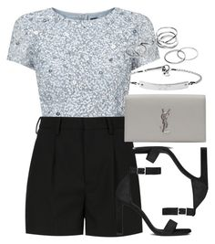 """""""Style #9900"""" by vany-alvarado ❤ liked on Polyvore featuring Adrianna Papell, Yves Saint Laurent and MICHAEL Michael Kors"""