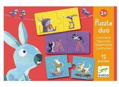 Erstes Duo Lernpuzzle Gegensätze von Djeco für Kleinkinder ab 2 Jahren