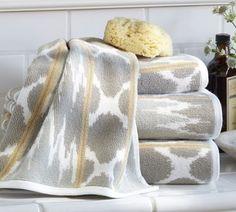 Dylan Ikat Jacquard Bath Towels | Pottery Barn
