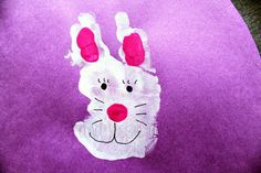 Easter craft: Bunny hand print!