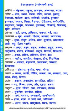 48217444 Synonyms (पर्यायवाची शब्द) - Careerdost 🔹 अतिथि — मेहमान, पाहुना, आगंतुक, अभ्यागत, बटाऊ। 🔹 अ… in 2020 Teaching English Grammar, English Vocabulary Words, Learn English Words, Grammar Lessons, General Knowledge Book, Gernal Knowledge, Knowledge Quotes, Good Night Hindi Quotes, Good Thoughts Quotes