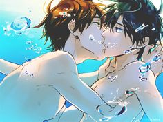tirianna:     Thank you gif for following me! //  Makoto  Haru from ♒ Free! ♒           CHECK OUT THE AMAZING ARTIST -- 如月マナミ  //