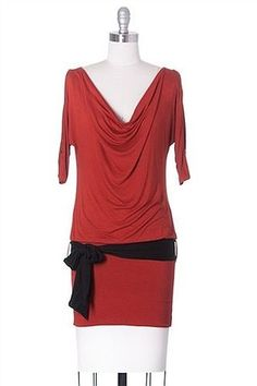 Wild Thing Dropped Waist Dress Nastygal Style, Mini, Short Sleeve, Green, Rust #NastyGalStyle #DroppedWaist #Clubwear