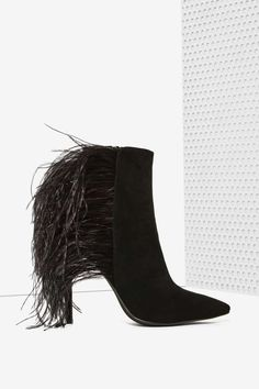 Jeffrey Campbell Vain Feather Bootie   Shop Shoes at Nasty Gal!