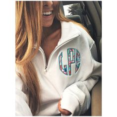 Lilly Pulitzer Monogram Quarter Zip by LPEdesigns on Etsy Size Small in White with LSE in pattern #9