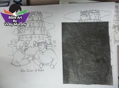 Feb 29, 2016 In our class we always read the scriptures before we draw. I had several options for the ladies in Gen 11-12. Some choose NOT to color pictures and only highlight words in that chapter. Some use symbols and others draw pictures. I printed up a graphic  for them to trace and color.  I also printed a label that fits in one column.  There is not a WRONG way to do BIBLE ART!