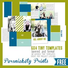 FREE tiny templates (PSD files) for Project from Persnickety Prints