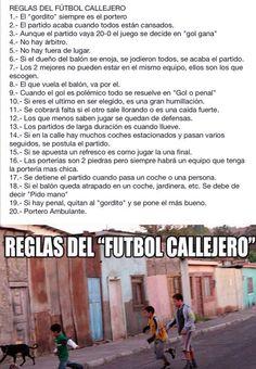 Reglas de futbol callejero #futbolcallejero #futbolgracioso