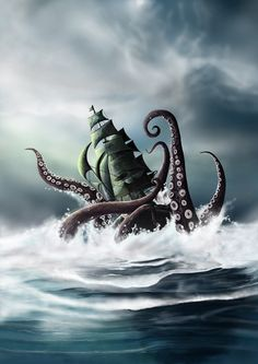 The Kraken sinks ships, and causes tsunamis, striking fear into the hearts of the people who live in the Sea of Tears.