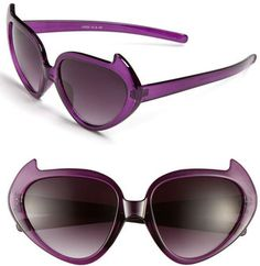 these look so fun - maybe for a costume party? Purple Accessories, Fes, Beautiful Eyes, Cat Eye Sunglasses, Eyeglasses, Eyewear, My Style, Kitty Cats, Sunglasses