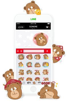 [Gondre&Friends] LINE sticker https://store.line.me/stickershop/product/1182890/ko  #character #line #sticker #illust #gondre #cute