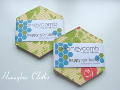 Happy Go Lucky Honeycomb - Lovely sweet, retro prints in bright, summery colour palette from Bonnie and Camille's Happy Go Lucky collection for Moda. Bee Free, Free Pattern, Honeycombs, Retro, Sewing, Cloths, Happy, Palette, Bright