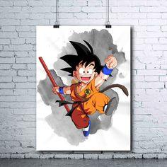 Goku - Dragon Ball Printables - Dragon Ball Z - Goku Print - Goku Poster - Dragon Ball Z Prints - Goku Child - Dragon Ball Z Posters - DBZ - pinned by pin4etsy.com