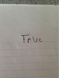 Answering a True/False exam. Like a boss!