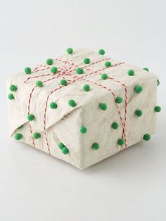 Pom Pom Tissue Paper Christmas package, wrapping