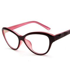 5d16e69b21 Buy online Cat Eye Style Clear Lens Eyeglasses Frame Women Eyewear Fashion  Vintage Spectacle Optical Eye