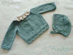 Conjunto tejido a mano. L'Anita
