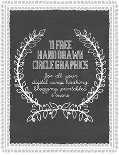 We Lived Happily Ever After: Sketch Me Pretty: 11 Hand Drawn Circle Digital Graphics