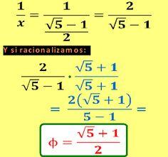 Diccionario Matematicas: Número de Oro - Sección Áurea