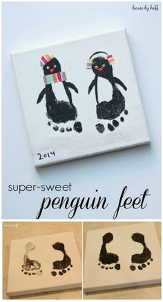 Super Sweet Penguin Feet 25 Interesting Ideas to Make Easy Christmas Crafts