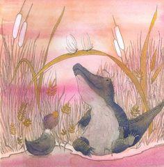 """in  """"Danilo e il Nilo"""", Luisa Capparotto,Arte e Crescita Ed., 2010. Children's Book Illustration, Childrens Books, Reading, Kids, Painting, Animals, Illustrations, Art, Pretty Pictures"""